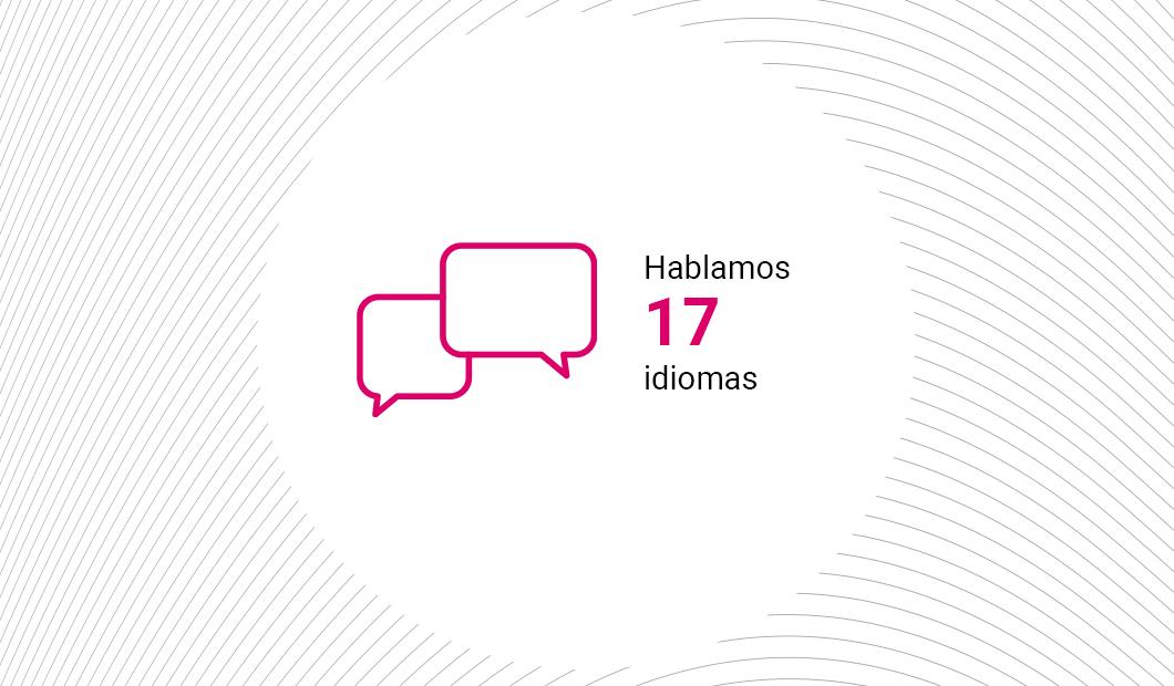 We speak 17 languages