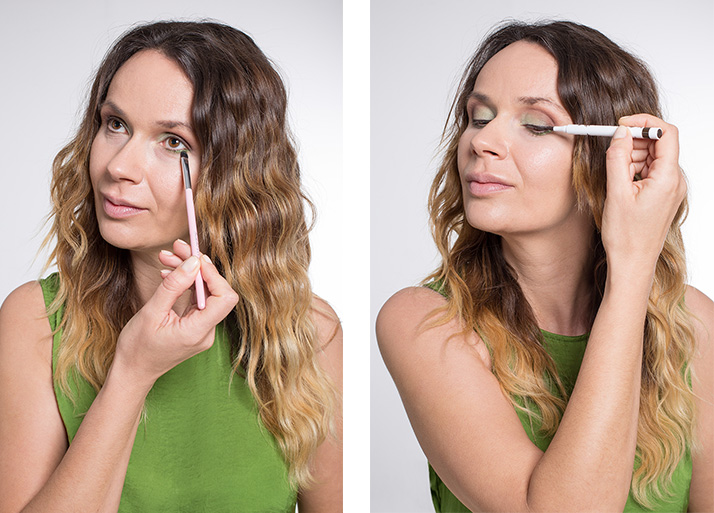 maquillaje verde