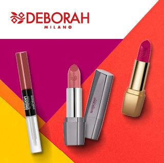 Barras de labios y brillos Deborah Milano